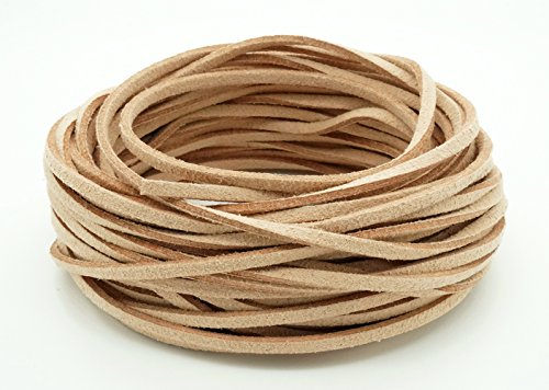 TAN 3mm x 1.5mm Faux Suede Cord Leather Lace Bracelet Necklace Making (10yards ()