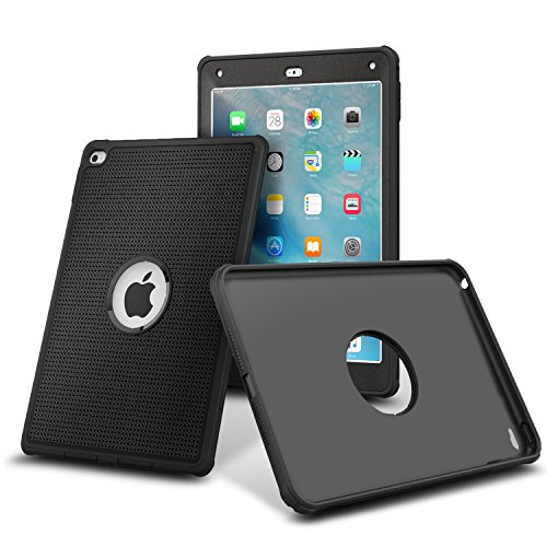 iPad Air 2 Case, rooCASE ORB 360 VersaTough Full-body Rugged Hybrid Protective Case Dual Layer Impact Resistant Bumper Cover with Built-in Screen