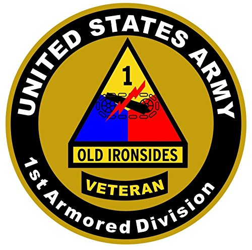 1-Pc Fiduciary Unique United States Army Old Ironsides Veteran 1st Armored Division US Sticker Sign Bumper Window Graphics Bike Patches Decals Car Stickers Decor Cars Vinyl Trucks Decal Size - Old Versace Logo