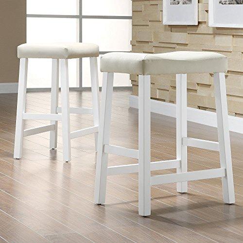 Weston Home Scottsdale Saddle Counter Stool - Set of 2