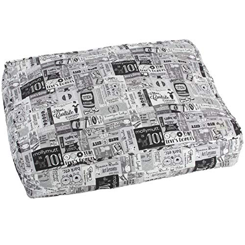 Molly Mutt 10 Years Dog Bed Duvet Cover, Med/Lrg - 100% Cotton, Durable, - Mutt Duvet Dog Molly