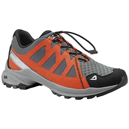 Dolomite - Zapatillas de senderismo para hombre Orange Red/Asphalt Grey