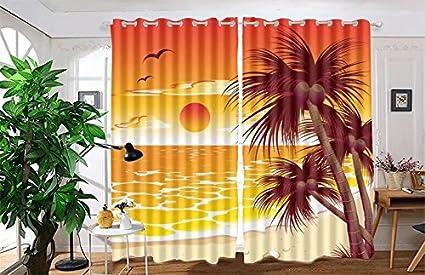 Vanfan 2 Panel Set Digital Printed Blackout Window Curtains For Bedroom Living Room Dining Kids