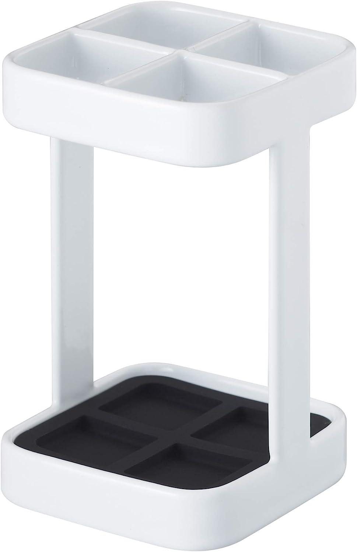 YAMAZAKI home Tower Slim Toothbrush Stand WH Space saving One Size White