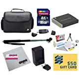 47th Street Photo Best Value Point & Shoot Essentials Accessory Kit for Canon PowerShot SX170 IS SX280 IS S120 Digital Camera Includes Extended Replacement NB-6L Battery + AC/DC Travel Charger + Self Portrait Monopod + Mini tripod + 16GB Transcend High Speed Error Free SDHC Memory Card + USB 2.0 Card Reader + Deluxe Carrying Case + Screen Protectors Photo Print ! Deluxe Cleaning Kit + More