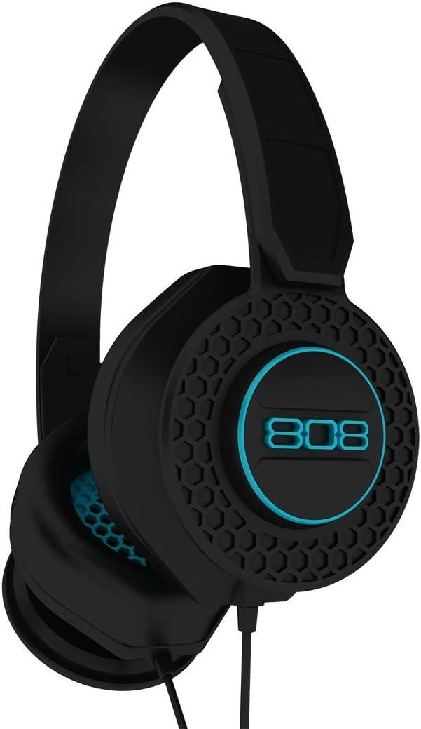 808 HPA130BK Shox Noise Isolating On-Ear Headphones, Black