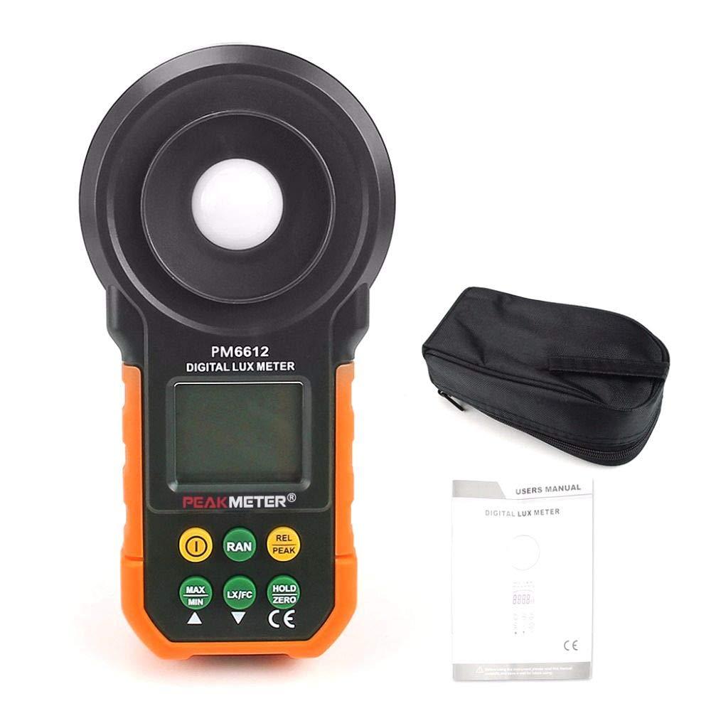 Digital MS6612 LCD Lux Light Meter Lux/FC Luxmeter Illuminance Measuring HYELEC
