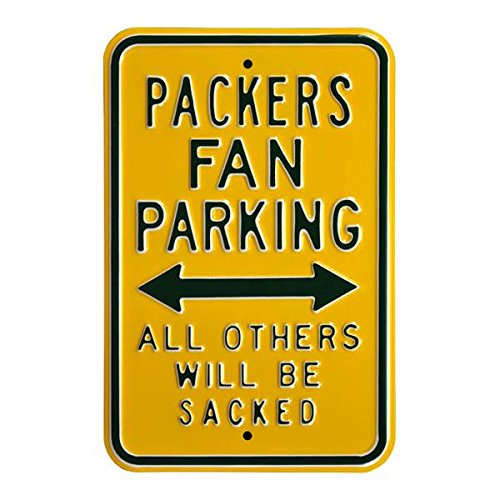Sacked Steel Parking SignGreen/Yellow