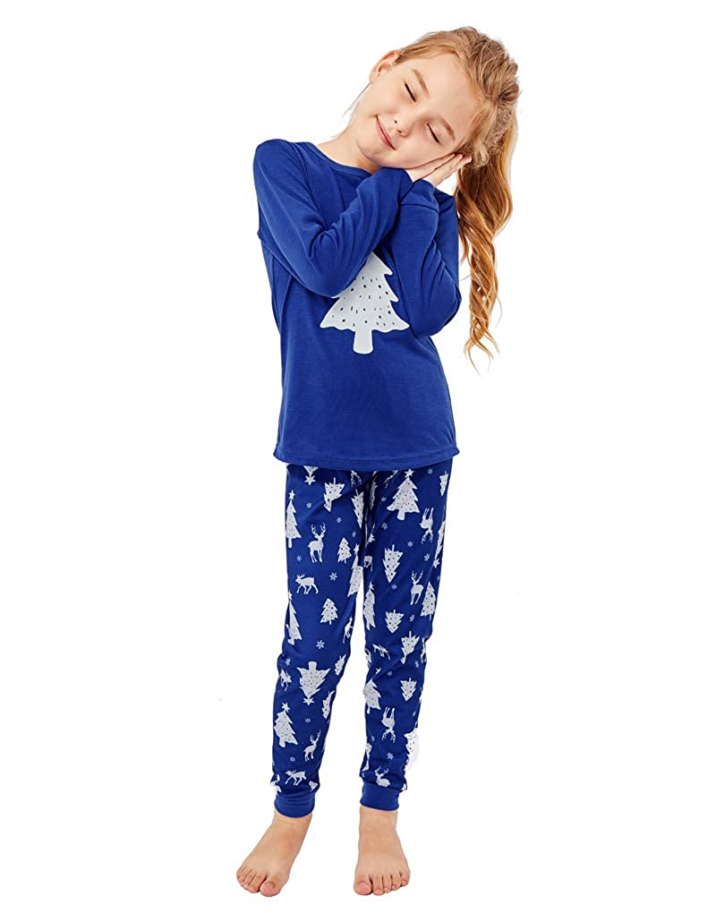 ccccf28afe MyFav Matching Family Christmas Pajamas Set Soft Cotton Clothes Sleepwear  at Amazon Women s Clothing store