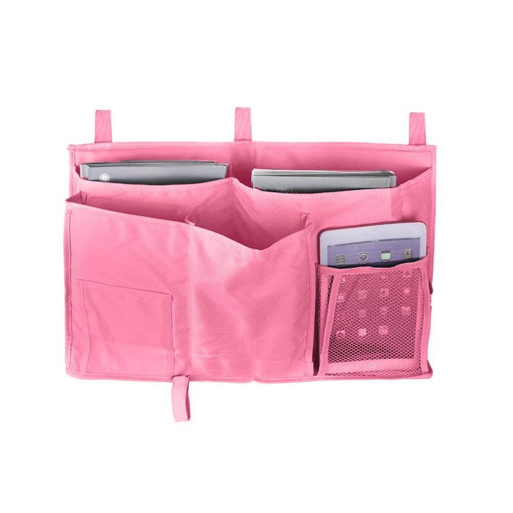MoYag Bedside Storage Organizer, Haopyou Bedside Caddy Hanging Storage Bag for Bunk and Hospital Beds, Dorm Rooms Bed Rails,Baby Bed,Baby Cart,Car Backrest with 8 Pockets(Black)