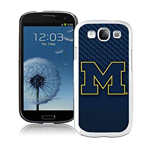 Beautiful Samsung Galaxy S3 Case ,Unique And Lovely Designed With Ncaa Big Ten Conference Football Michigan Wolverines 1 White Samsung Galaxy S3 Phone Case
