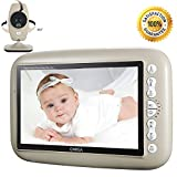 ONEGA Baby Monitor Wireless Video with 7.0' Large LCD Screen Night Vision Camera, Video Recording & Two Way Audio System