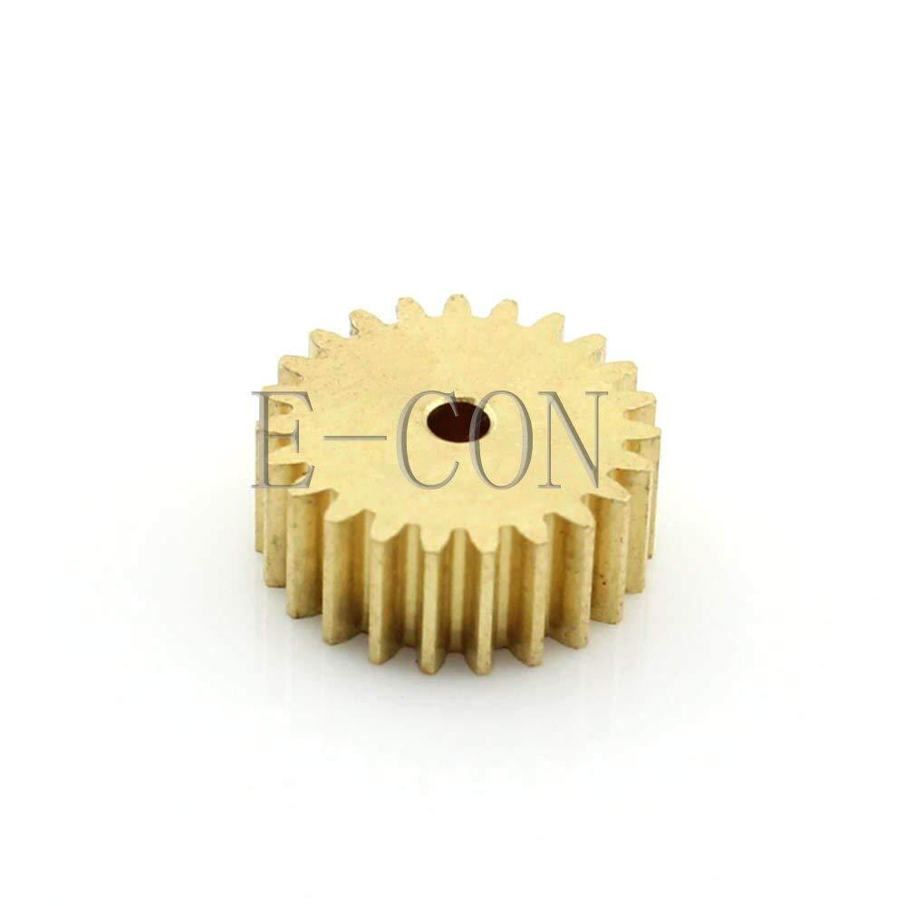 Number of Teeth: 22 Teeth, Hole Diameter: 4mm Fevas 1pcs 22 Tooth 5mm Width 0.5 Module 2mm//3mm//4mm//5mm//6mm Bore Hole Motor Metal Spur Gear