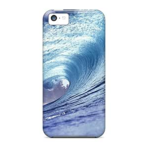 Durable Cases For The Iphone 5c- Eco-friendly Retail Packaging(wave)