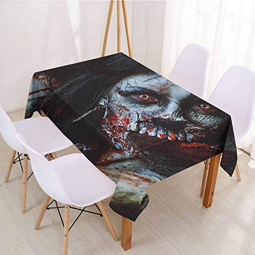 (ScottDecor Printed Tablecloth Wrinkle Free Tablecloths W 52