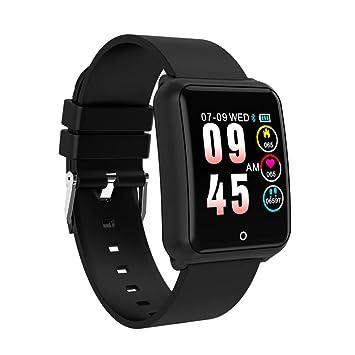 HOYHPK Reloj Inteligente Hombres Correa De Acero Inoxidable Reloj De Pulsera Frecuencia Cardíaca Presión Arterial Deporte Gimnasio Rastreador Bluetooth ...