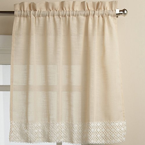 Sweet Home Collection Kitchen Curtain Choice Swag Or Valance Stylish and Unique Patterns and Designs, 36