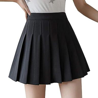 2020 Women/'s Pleated Short Skirt Sweet Striped Skirt Mini Cute School Uniform
