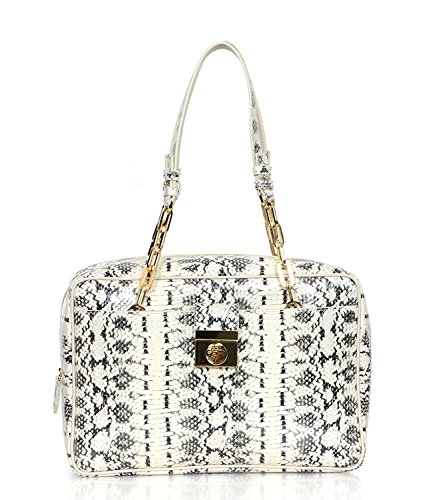Versace-Collection-Reptile-Pattern-Leather-Satchel-Handbag