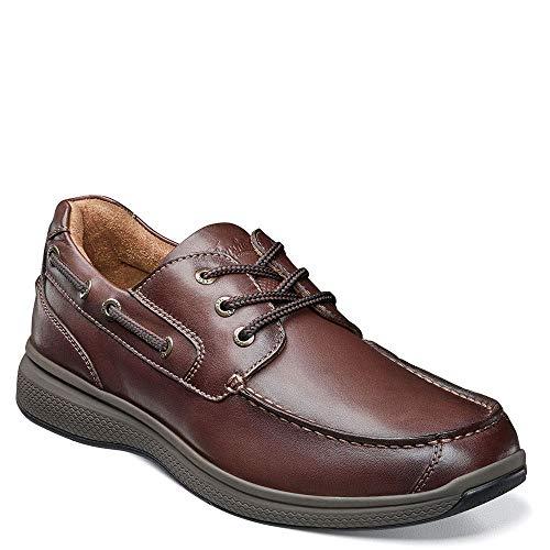 Smooth Footwear Brown - Florsheim Men's Great Lakes Moc Toe Oxford Brown Smooth 8 Eeeee US
