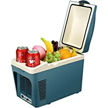SUAOKI Portable Car Fridge Electric Cooler and Warmer 12V for Truck Boat Party Travel Picnic Outdoor, 7 Quart/9 Can Capacity (Blue)