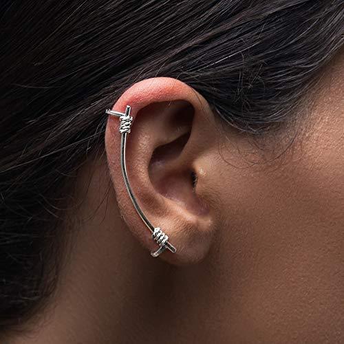 offre super mignon expédition gratuite Bague d'oreille en argent sans piercing, boucle d'oreille de ...