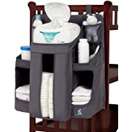 hiccapop Nursery Organizer and Baby Diaper Caddy | Hanging...