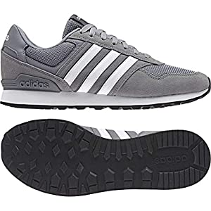 adidas Casual Wear Men Shoes 10K Training Fitness Fashion Trainers Grey