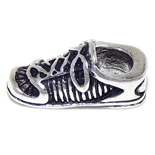 GemStorm Silver Plated Sneaker For European Snake Chain Bracelets (Pandora Charms Sneaker)