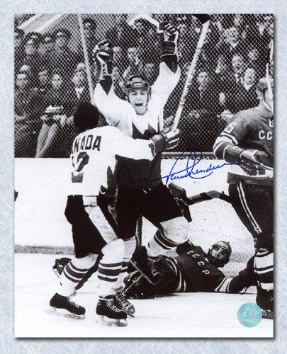 Autographs Henderson (Autograph Authentic HENP99704A Paul Henderson Team Canada Autographed 1972 Series Winning Goal 11 x 14 in. Photo)