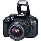 Canon EOS Rebel T6 DSLR with Canon EF-S 18-55mm f/3.5-5.6 IS II Lens + Wide Angle Lens + 2x Telephoto Lens + LED Light + 32GB SD Memory Card + New Bundle