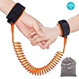 """Murtoo Child Anti Lost Wrist Link With Breathable Cotton Straps ,Double Layer Safety for Toddlers, Babies & Kids 59"""" (Orange)"""