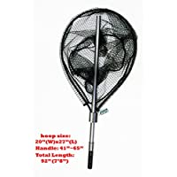 KUFA Sports FC7052 Retractable Aluminum Landing Net with...