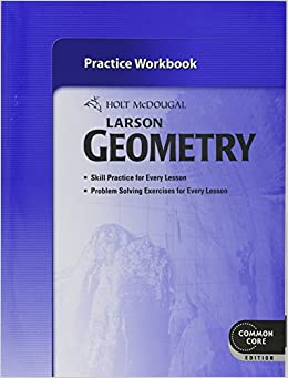 Book Holt McDougal Larson Geometry: Practice Workbook