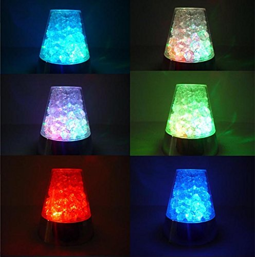 E&A Ice Fiber Optic Mood Novelty Lamps Lighting Glacier Lite with Color-Changing Crystals Base by E&A (Image #1)