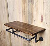 FHLYCF Do the old European style of the ancient industrial iron pipe shelf wall type rack rack on the wall of solid wood laminate shelves (5020 cm)