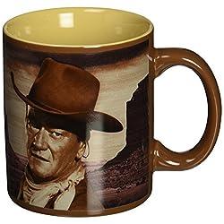 Vandor 15161 John Wayne  A Man's Got To Do 12 oz Ceramic Mug, Brown