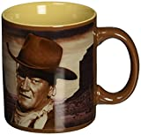 "Vandor 15161 John Wayne "" A Man's Got To Do"" 12 oz Ceramic Mug, Brown"