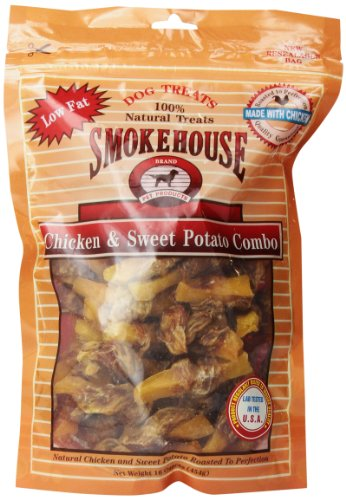 - Smokehouse 100-Percent Natural Chicken And Sweet Potato Combo Dog Treats, 16-Ounce
