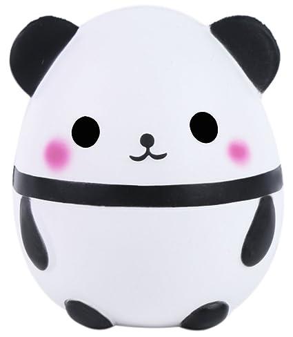 Vigeiya Squishies Jumbo Giant Silly Panda Egg Kawaii Cute Squishy Cream Scented Sweet Slow Rising Stress