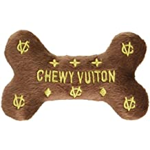 Dog Diggin Designs Chewy Vuiton Bone Plush Dog Toy