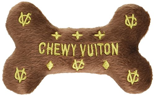 Chewy Vuiton Bone Plush Dog Toy