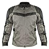 Xelement XS8162 'All Season' Men's Black/Grey Tri-Tex/Mesh Jacket - Large