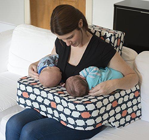Cojín de lactancia para gemelos. Diseñado por una madre de ...
