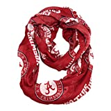 NCAA Alabama Crimson Tide Sheer Infinity Scarf, One Size, Red