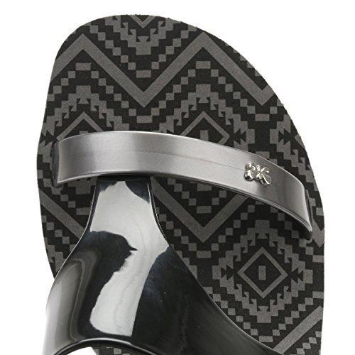 Zaxy Mujer Negro Glamour 2 Wedge Sandalias