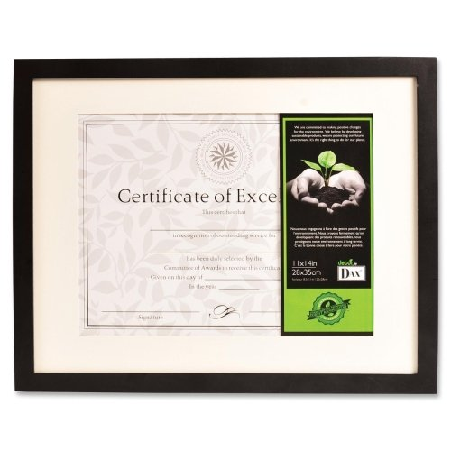 Wholesale CASE of 10 - Burns Grp. FSC Certified Black Wooden Frame-Photo/Document Frame, 11''x14'', Black