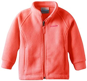2f26ca6de Columbia Baby-Girls Infant Benton Springs Fleece, Hot Coral, 12-18 Months