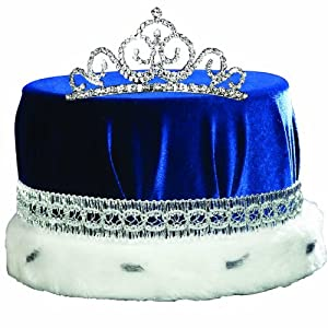 Blue and Silver Grand Midnight Magic Crown and Tiara Set