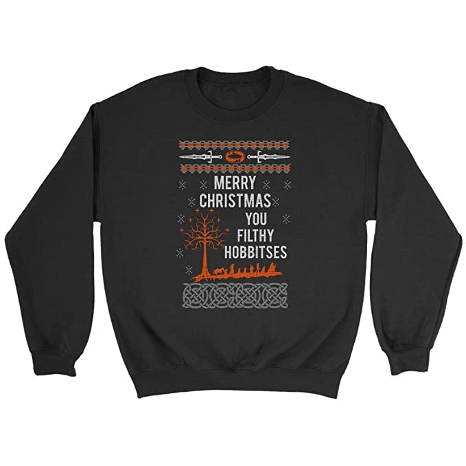 Lord Of The Rings Christmas Jumper.Merry Christmas You Filthy Hobbitses Lord Of The Rings Ugly